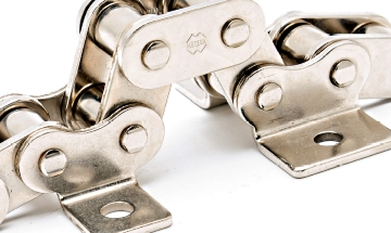 Roller chains with special plates